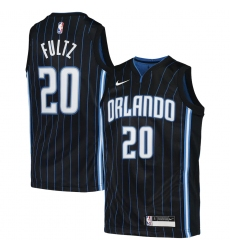 Youth Orlando Magic #20 Markelle Fultz Nike Black 2020-21 Swingman Jersey