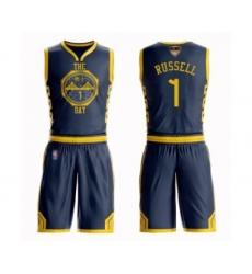 Men's Golden State Warriors #8 Alec Burks Swingman Navy Blue Basketball Suit Jersey - City Edition