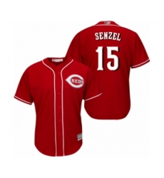 Youth Cincinnati Reds #15 Nick Senzel Authentic Red Alternate Cool Base Baseball Jersey