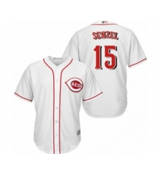Youth Cincinnati Reds #15 Nick Senzel Replica White Home Cool Base Baseball Jersey