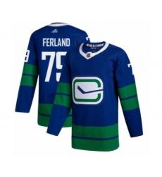 Men's Vancouver Canucks #79 Michael Ferland Authentic Royal Blue Alternate Hockey Jersey