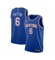 Men's New York Knicks #6 Elfrid Payton Authentic Blue Basketball Jersey - Statement Edition