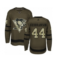 Men's Pittsburgh Penguins #44 Erik Gudbranson Authentic Green Salute to Service Hockey Jersey