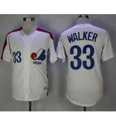 Mitchell And Ness Montreal Expos #33 Larry Walker White Throwback Stitched MLB Jersey
