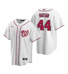 Men's Nike Washington Nationals #44 Daniel Hudson White Home Stitched Baseball Jersey
