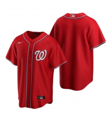 Men's Nike Washington Nationals Blank Red Alternate Stitched Baseball Jersey