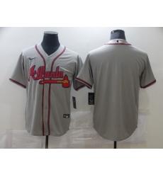 Men's Nike Atlanta Braves Blank Gray Jersey