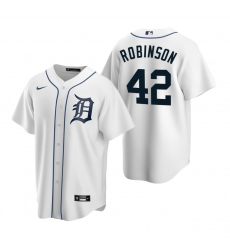 Men's Nike Detroit Tigers #42 Jackie Robinson White Home Stitched Baseball Jersey