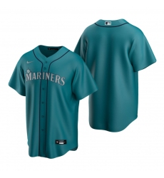 Men's Nike Seattle Mariners Blank Aqua Alternate Stitched Baseball Jersey