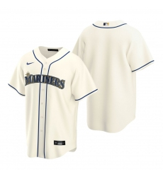 Men's Nike Seattle Mariners Blank Cream Alternate Stitched Baseball Jersey