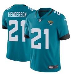 Men's Jacksonville Jaguars #21 C.J. Henderson Teal Green Alternate Stitched Vapor Untouchable Limited Jersey
