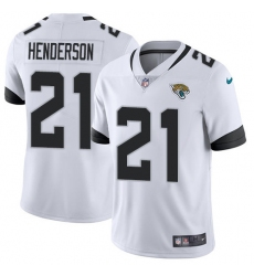 Men's Jacksonville Jaguars #21 C.J. Henderson White Stitched Vapor Untouchable Limited Jersey