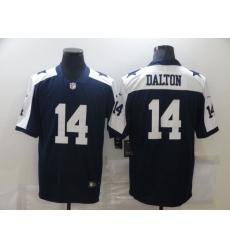 Men's Dallas Cowboys #14 Andy Dalton Nike Blue Throwback Limited Jersey