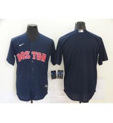 Men's Nike Boston Red Sox Blank Navy Royal Alternate Stitched Baseball Jersey