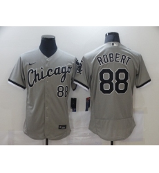 Men's Chicago White Sox #88 Luis Robert Nike Gray Home 2020 Replica Player Jersey
