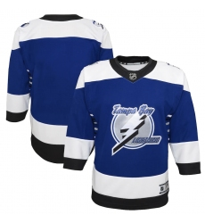 Youth Tampa Bay Lightning Blank Blue 2020-21 Special Edition Premier Jersey