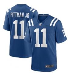 Men's Indianapolis Colts #11 Michael Pittman Jr. Nike Royal 2020 NFL Draft Game Jersey