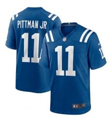 Men's Indianapolis Colts #11 Michael Pittman Jr. Nike Royal Game Player Jersey