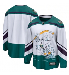Men's Anaheim Ducks Fanatics Branded Blank White 2020-21 Special Edition Breakaway Jersey