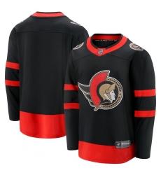 Men's Ottawa Senators Fanatics Branded Blank Black 2020-21 Home Breakaway Jersey