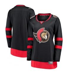 Women's Ottawa Senators Fanatics Branded Blank Black 2020-21 Home Breakaway Jersey