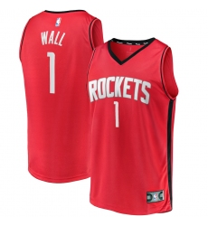 Men's Houston Rockets #1 John Wall Fanatics Branded Red 2020-21 Fastbreak Replica Jersey