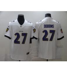 Men's Baltimore Ravens #27 J.K. Dobbins Nike White Limited Jersey