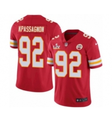 Youth Kansas City Chiefs #92 Tanoh Kpassagnon Red 2021 Super Bowl LV Jersey