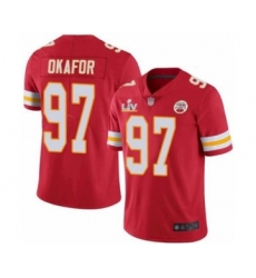 Youth Kansas City Chiefs #97 Alex Okafor Red 2021 Super Bowl LV Jersey