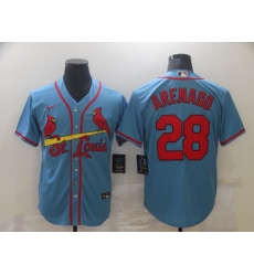 Men's St. Louis Cardinals #28 Nolan Arenado Nike Blue Alternate Official Replica Player Jersey