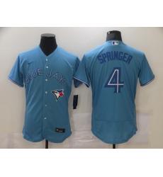 Men's Toronto Blue Jays #4 George Springer Light Blue Nike Royal Alternate Replica Player Jersey