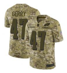 Men's Nike Philadelphia Eagles #47 Nate Gerry Limited Camo 2018 Salute to Service NFL Jersey