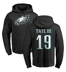 Nike Philadelphia Eagles #19 Golden Tate III Black Name & Number Logo Pullover Hoodie