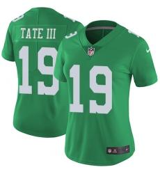 Women's Nike Philadelphia Eagles #19 Golden Tate III Limited Green Rush Vapor Untouchable NFL Jersey