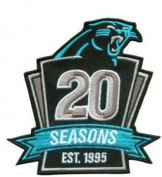 Stitched NFL Carolina Panthers 1995-2014 20TH Season Jersey Patch