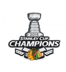 Stitched 2015 NHL Stanley Cup Final Champions Chicago Blackhawks Jersey
