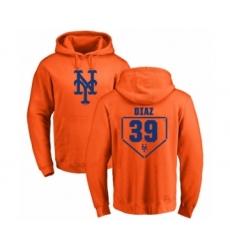 Baseball New York Mets #39 Edwin Diaz Orange RBI Pullover Hoodie