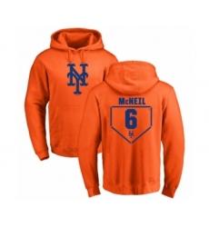 Baseball New York Mets #6 Jeff McNeil Orange RBI Pullover Hoodie
