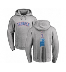 Basketball Oklahoma City Thunder #3 Chris Paul Ash Backer Pullover Hoodie