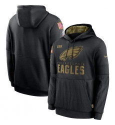 Men's NFL Philadelphia Eagles 2020 Salute To Service Black Pullover Hoodie