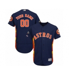 Men's Houston Astros Customized Navy Blue Alternate Flex Base Authentic Collection 2019 World Series Bound Baseball Jersey