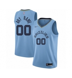 Youth Memphis Grizzlies Customized Swingman Blue Finished Basketball Jersey Statement Edition