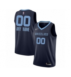 Youth Memphis Grizzlies Customized Swingman Navy Blue Finished Basketball Jersey - Icon Edition