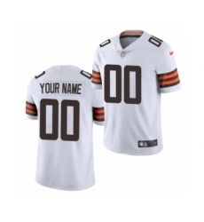 Cleveland Browns Custom White 2020 Vapor Limited Jersey