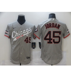 Men's Chicago White Sox #45 Michael Jordan Grey Nike MLB Jersey