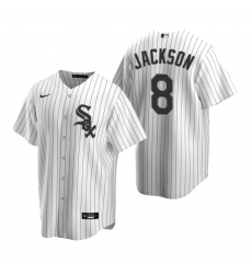 Men's Nike Chicago White Sox #8 Bo Jackson White Home Stitched Baseball Jersey