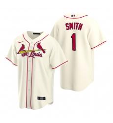 Men's Nike St. Louis Cardinals #1 Ozzie Smith Cream Alternate Stitched Baseball Jersey