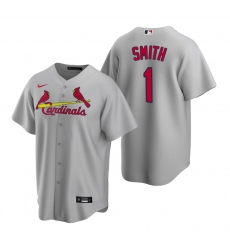 Men's Nike St. Louis Cardinals #1 Ozzie Smith Gray Road Stitched Baseball Jersey