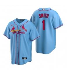 Men's Nike St. Louis Cardinals #1 Ozzie Smith Light Blue Alternate Stitched Baseball Jersey