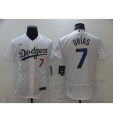 Men's Nike Los Angeles Dodgers #7 Julio Urias White  Champions Authentic Jersey